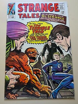 18-C0366: Strange Tales # 129, 1965, VF 8.0 WHITE paged GEM! SCARCE issue to get