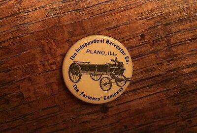 "Independent Harvester Co 1"" Celluloid Pinback International Harvester IHC"