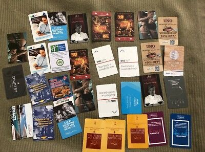 Lot of Hotel room key cards 31