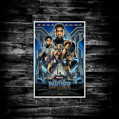 Black Panther Movie Poster Print Wall Art Cinema A4 A5 A6 A3 Film - 1005