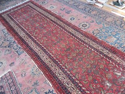 Antique Country House Shabby Chic West Persian Malayer Runner Long Rug