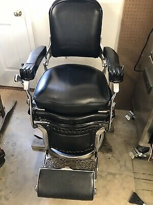 Antique, Signature Koken, Terminal Barbershops, Chair with headrest