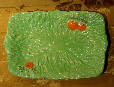 Beswick Ware Lettuce / Tomato Green Rectangular Dish 216 Made In England