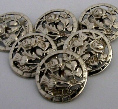 Sterling Silver Coronation Buttons King Edward Vii Royalty Antiques 1901