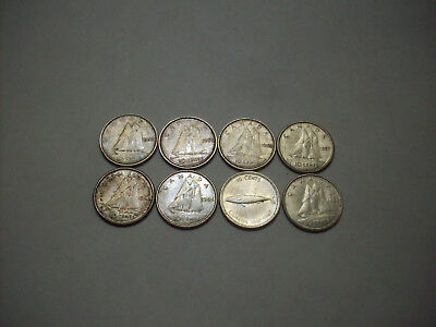 8 Silver Canadian Dimes
