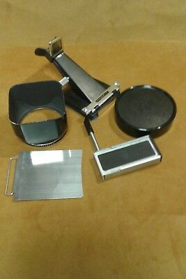 Hassleblad view finder and other accessories. 5 pieces.