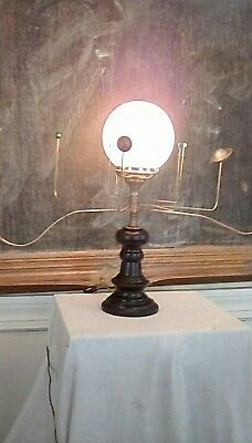 Antiqued Orrery lamp by South Carolina artist , Will S. Anderson