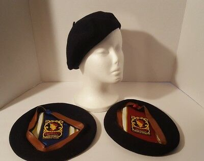 Child Size Berets Vintage Country Junior Collection Of 3