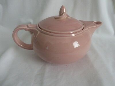 LURAY PASTELS SHARON PINK TEAPOT WITH LID, TAYLOR, SMITH & TAYLOR 1940s