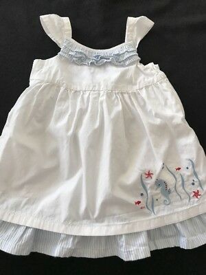 Janie and Jack Baby Girl Seahorse Dress 3-6 Months