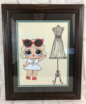 LOL Leading Baby Doll Framed Wall Art New Bedroom Nursery Playroom