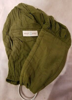 Maya Wrap Comfort Fit Ring Sling Baby Carrier - Olive Green - Small