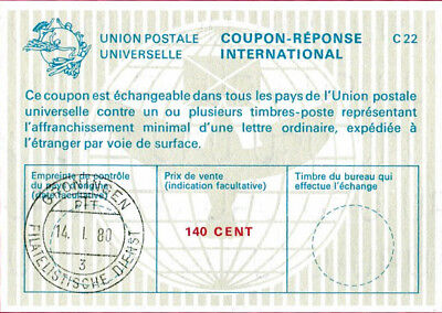 NETHERLANDS 140 CENT International Reply Coup[on