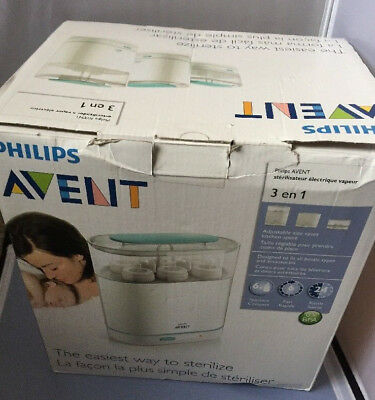 Philips Avent 3-in-1 Electric Steam Sterilizer, BPA-Free, Baby Bottle Cleaner