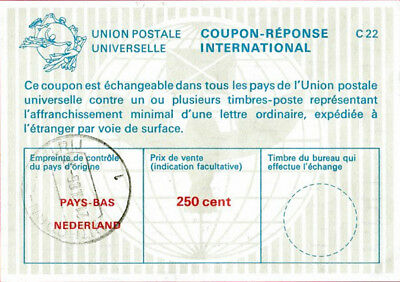 NETHERLANDS 250 CENT International Reply Coupon