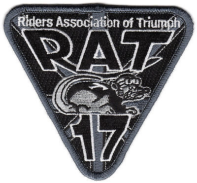 2017 Riders Association of Triumph Motorcycles RAT Patch Badge