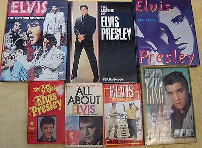 ♫ ELVIS PRESLEY  7 Elvis books - some rare - OOP - in great condition - lot 16 ♫