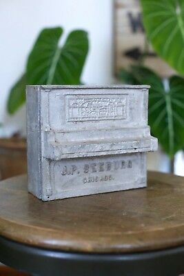 RARE Antique 1900s J P SEEBURG Chicago Nickolodeon Player Piano Cast Metal AD