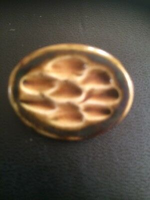 """Lovely Unusual Vintage Sure It Is A Royal Doulton Brooch 1.5"""" x 1"""" G/C"""