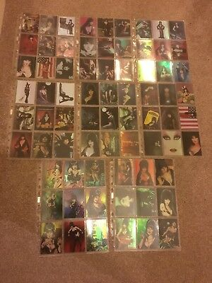 Elvira Mistress Of Omnichrome 72 x Collectible Cards - 1997 Set By Comic Images
