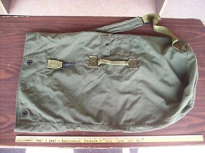 USA Army Issue Military Canvas Duffel  Camping Survival Bat Bag USA Made NEW!
