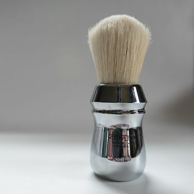 Big Scrubby Chromed! All Metal Zenith Boar Shave Brush. 28x50mm Italy B21