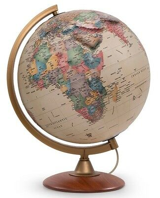 Globe Antique Style ILLUMINATED 30cm 'Colombo Relief' Current Geographical