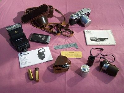 Leica 111F RDST Camera 1953-56 with Summarit Lens, Original Manual, Leather Case