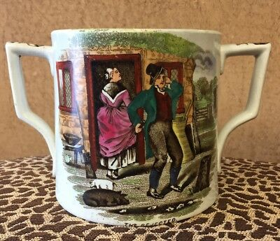 Antique Loving Cup Mug The Accepted The Rejected