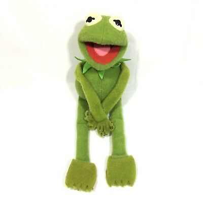 Vintage 1985 Muppets Kermit the Frog Hasbro Softies Jim Henson 15""