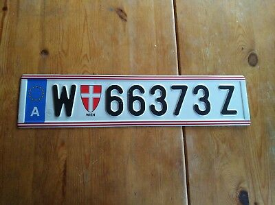 Single Licens Plate from Vienna / Austria