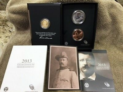 2013 THEODORE ROOSEVELT COIN AND CHRONICLES SET  Free shipping