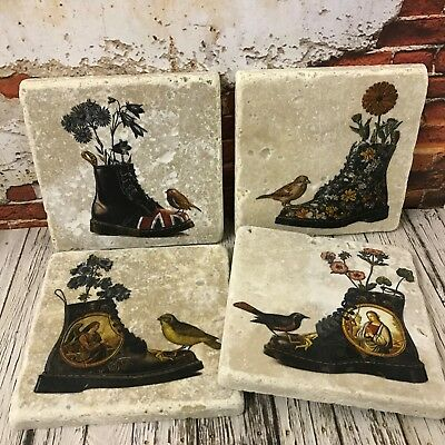 Dr Martens and Feathered Friends High Quality Stone Coasters birds