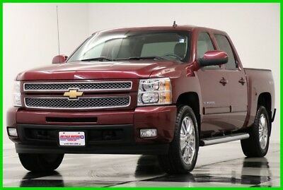 2013 Chevrolet Silverado 1500 4X4 LTZ Leather Crew Deep Ruby Metallic 4WD Used Heated Cooled Seats 20 Inch Chrome Rims Bluetooth 14 15 2014 13 Cab 5.3L