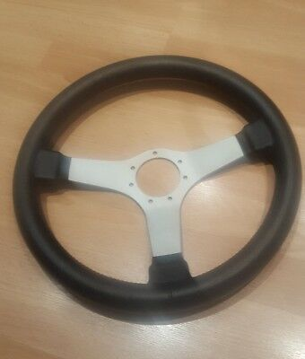 O.A.B three point leather steering wheel