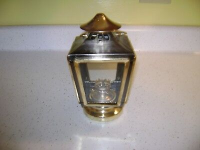 Vintage 1960's-Made In Hong Kong Hurricane/Carriage Round Wick Oil Lamp