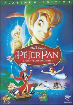 Peter Pan (2-Disc Set, Platinum Edition) With Slipcover New Free Shipping