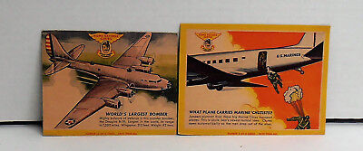 1941 Quaker Sparkies Cereal Captain Sparks Home Defense Series Plane Fact Cards