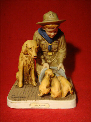 """NORMAN ROCKWELL *GOOD FRIENDS* FIGURINE from """"BOY SCOUTS of AMERICA"""" SERIES"""
