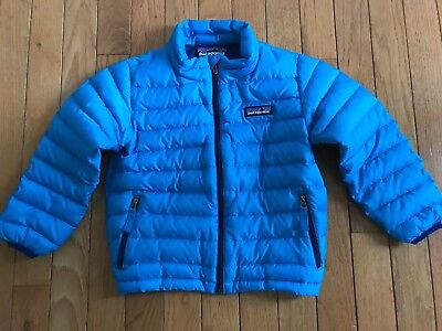 Boy's Patagonia Sweater Jacket Down Coat Blue 3T