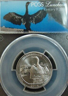 2015 Pcgs Luncheon Slab/fun Show 1/9/15**only 240 Made**2014 Everglades Quarter