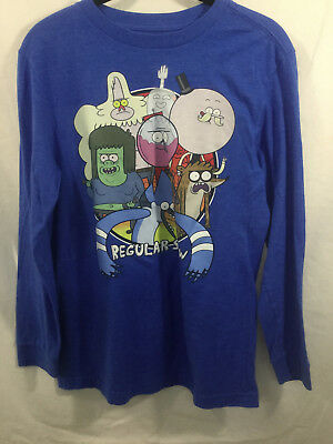 c745326a0 Old Navy Boys Long Sleeve Collectabilitees Tee X-Large 14-16 The Regular  Show