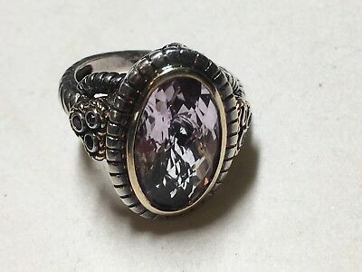 Nice Vintage Sterling Silver Ring with a Fancy Cut Stone in a Size 6