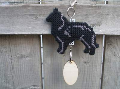 Belgian Sheepdog dog crate tag or hang anywhere pet sign ornament, Groenendael
