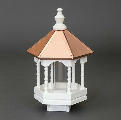 Copper roof Bird Feeder Amish handmade handcrafted Copper top
