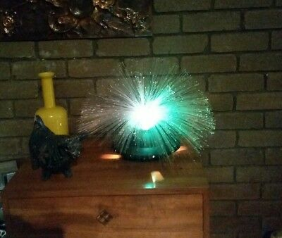 70s Fibre Optic Flying Saucer Lamp Retro Groovy Atomic