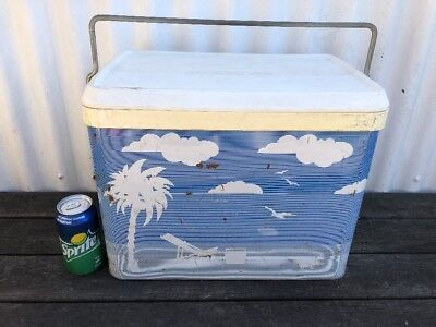 Retro Willow Cooler Denim Beach MotifGC Holden Ford Valiant VW Pick Up Melbourne