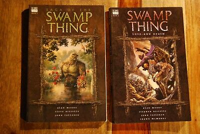 Saga of the Swamp Thing by Alan Moore. Book 1-5