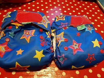 3x Tots Bots Easyfit Reusable Nappies one size aio