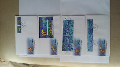 Christmas Island 2004 Year of the Monkey 4 FDCs